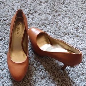 Guess Caramel brown platform heels - 8.5
